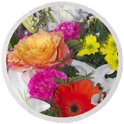 Floral Bouquet Round Beach Towel