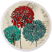 Floral Delight Iv Round Beach Towel by Lourry Legarde