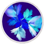 Round Beach Towel featuring the digital art Floral Fantasy 012815 by David Lane