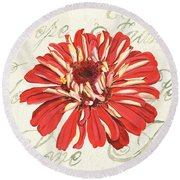 Floral Inspiration 1 Round Beach Towel