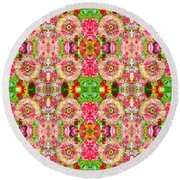 Floral Kitsch Round Beach Towel