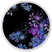 Floralities - 02a Round Beach Towel