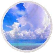 Florida Bay At Shell Pass Filtered Round Beach Towel