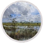Florida Everglades 0173 Round Beach Towel