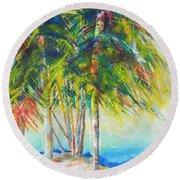 Florida Inspiration  Round Beach Towel by Chrisann Ellis