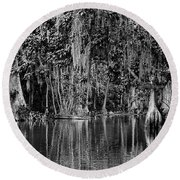 Florida Naturally 2 - Bw Round Beach Towel