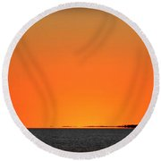 Florida Orange Round Beach Towel by Faith Williams
