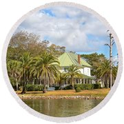 Florida Style Round Beach Towel