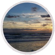 Round Beach Towel featuring the photograph Florida Sunrise by Ally  White