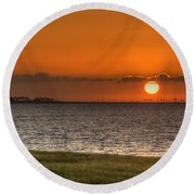 Florida Sunrise Round Beach Towel by Jane Luxton