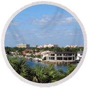 Florida Vacation Round Beach Towel