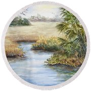 Florida Wilderness IIi Round Beach Towel