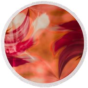 Round Beach Towel featuring the photograph Flow by Jacqui Boonstra
