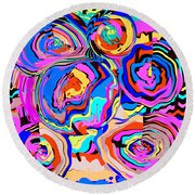 Abstract Art Painting #2 Round Beach Towel