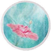 Flower Dancer Round Beach Towel by Erika Weber