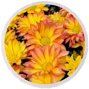 Round Beach Towel featuring the photograph Flower  by Gandz Photography