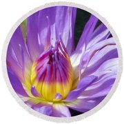 Flower Garden 70 Round Beach Towel