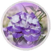 Flower In A Haze Round Beach Towel