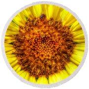 Flower Power Round Beach Towel by Tina  LeCour