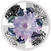 Flower Spreeze Round Beach Towel
