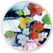 Flower Vase No.1 Round Beach Towel