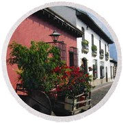 Flower Wagon Antigua Guatemala Round Beach Towel
