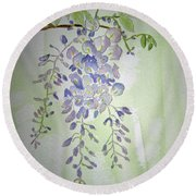 Flowering Wisteria Round Beach Towel