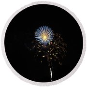 Flowering Burst Round Beach Towel