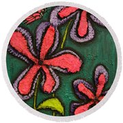 Flowers 4 Sydney Round Beach Towel by Shawn Marlow
