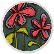 Flowers For Sydney Round Beach Towel by Shawn Marlow