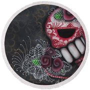 Flowers For The Dead II Round Beach Towel by Abril Andrade Griffith