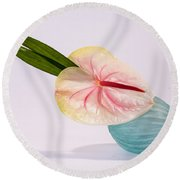 Flowers In Vases 8 Round Beach Towel