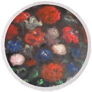 American Floral Round Beach Towel