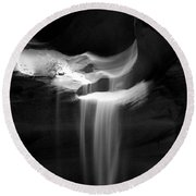 Flowing Sand In Antelope Canyon Round Beach Towel