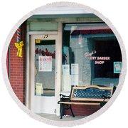 Floyd's Barber Shop Nc Round Beach Towel