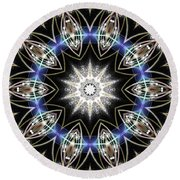 Flux Magnetism Round Beach Towel