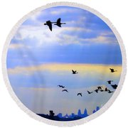 Fly Like The Wind Round Beach Towel