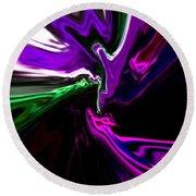 Purple Rain Homage To Prince Original Abstract Art Painting Round Beach Towel