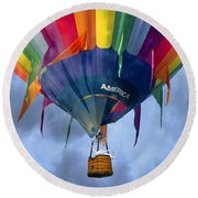 Flyin The Coop II Round Beach Towel by Betsy Knapp