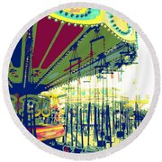 Flying Chairs Round Beach Towel by Valerie Reeves