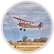 Flying Circus Barnstormers Round Beach Towel