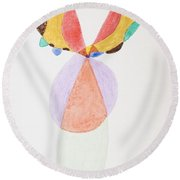 Round Beach Towel featuring the painting Flying Colors by Stormm Bradshaw