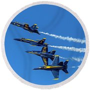 Flying Formation Round Beach Towel