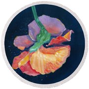 Flying Pansy Round Beach Towel