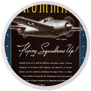 Grumman Flying Squadrons Up Round Beach Towel