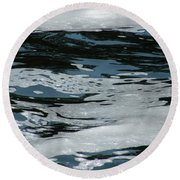 Foam On Water Round Beach Towel