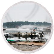 Fog Bound Round Beach Towel