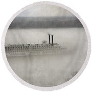 The American Queen  Round Beach Towel