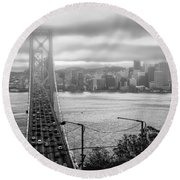 Foggy City Of San Francisco Round Beach Towel