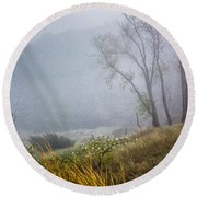 Foggy Dune Round Beach Towel